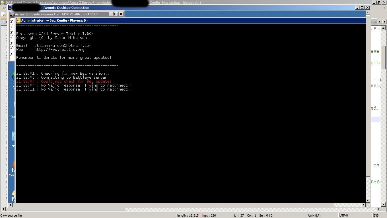 Help Server Crashing Randomly - Server & Scripting Help Desk - Altis